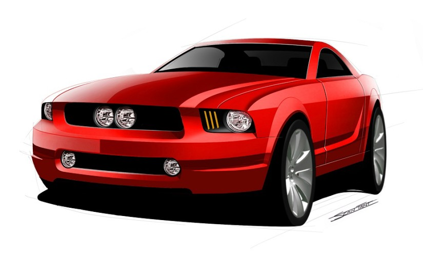Early S197 Mustang Sketch